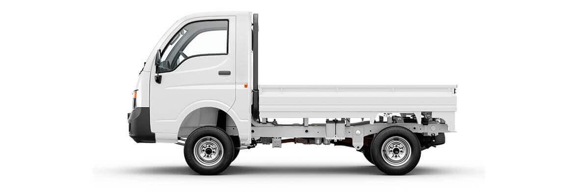 Tata Ace White Flat View White Colour