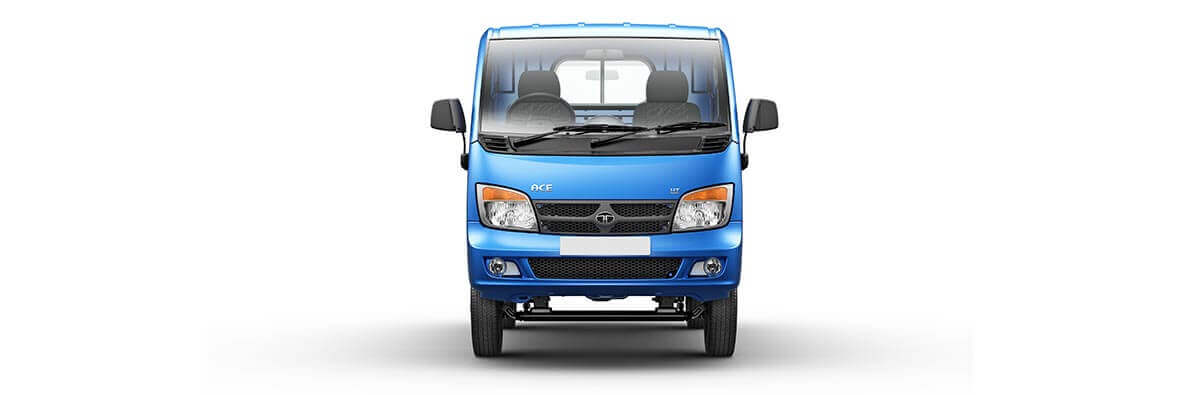 Tata Ace Blue Flat Front View