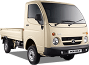 Tata Ace Gold White Pop Up RH Side View