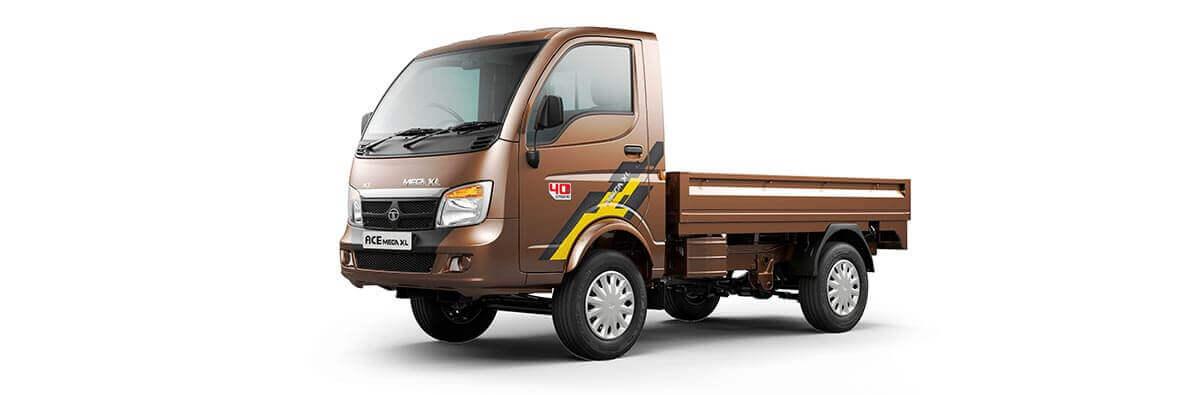 Tata Ace Mega XL Brown LH view