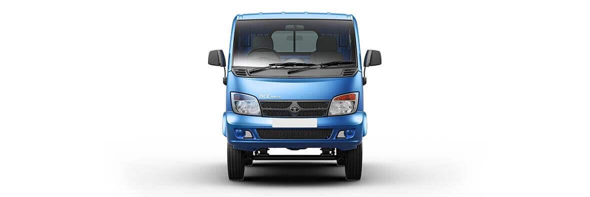 Tata Ace Mega Azure Blue Front View