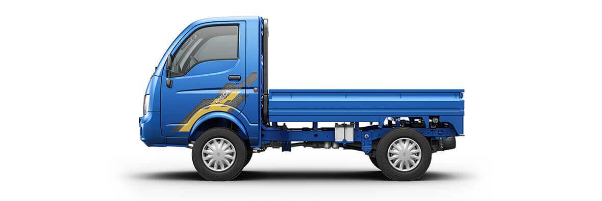 Tata Ace Mega Azure Blue Rh View