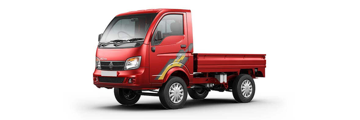 Tata Ace Mega Laser red Flat LH side view