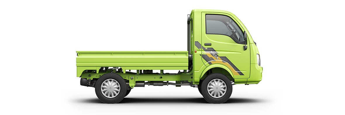 Tata Ace Mega Rh View Neon Green