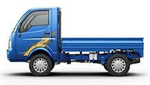 Tata Ace Mega Flat Side View Azure Blue