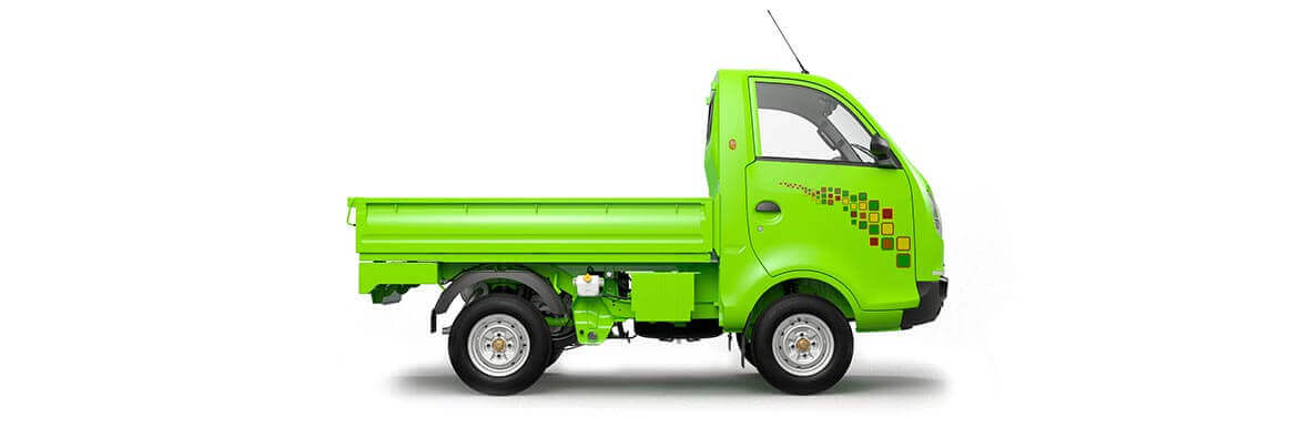 Tata Ace Zip XL Green RH Flat side view