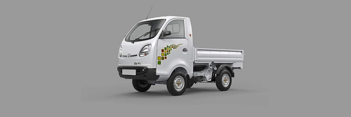 Tata Ace Zip XL White LH side view