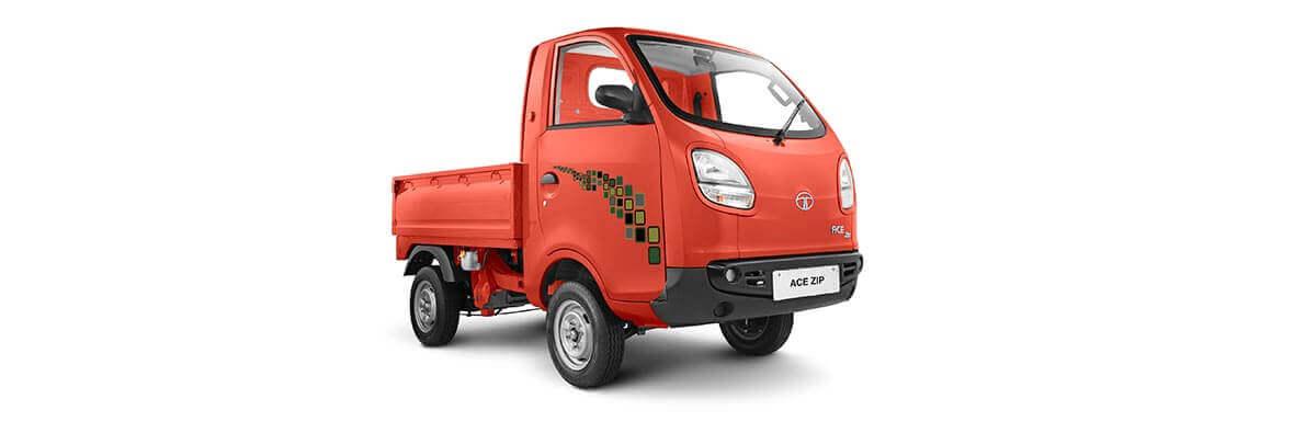 Tata Ace Zip Rh View Marigold Orange