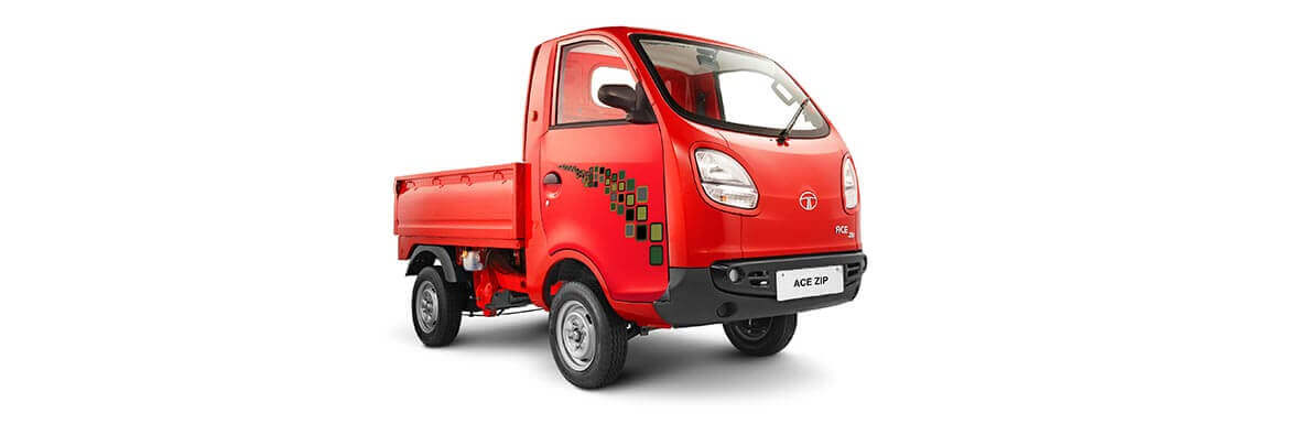 Tata Ace Zip red colour LH side