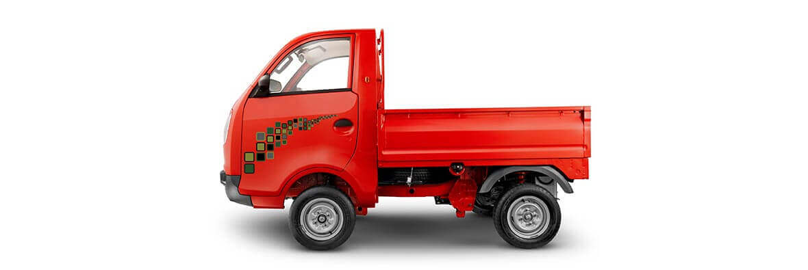 Tata Ace Zip Red Colour Lh View