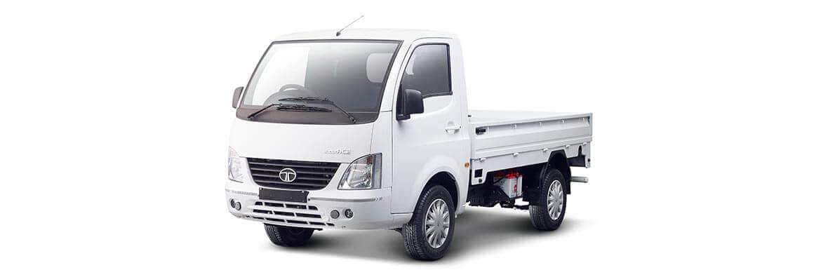 Tata Ace Superace White Flat side view