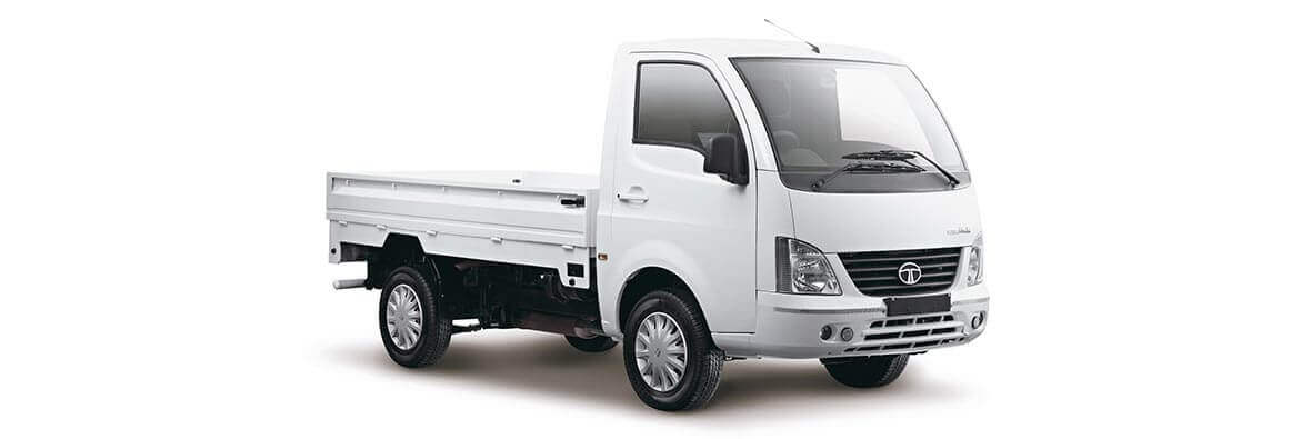 Tata Super Ace Rh View White Colour