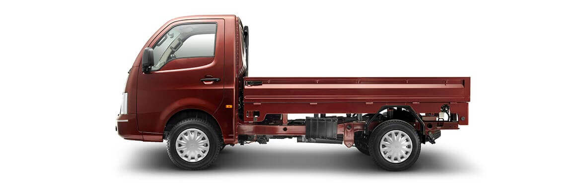 Tata Ace Sardinia Red Side View