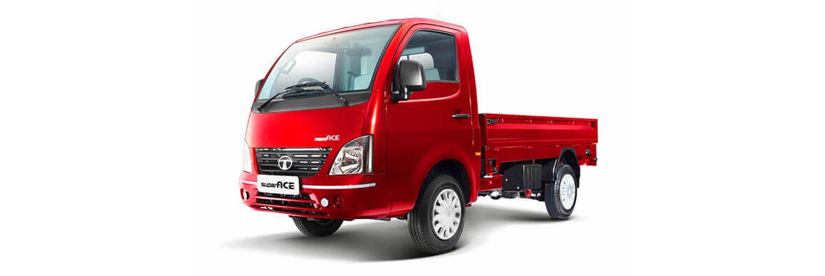 Tata Ace Superace Blazing red Flat side view