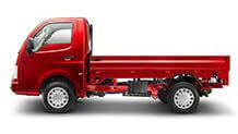 Tata Super Ace Blazing Red Flat View