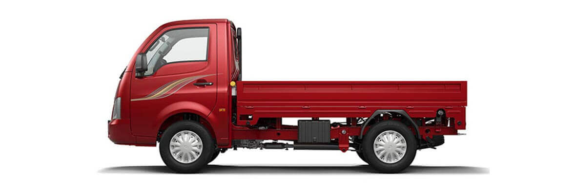 Tata Ace Supermint Blazing red Flat side view