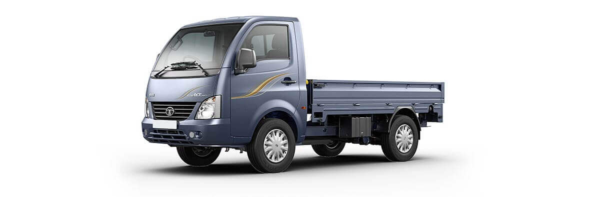 Tata Ace Supermint castle grey LH flat view